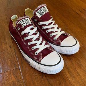 Brand New Maroon Converse